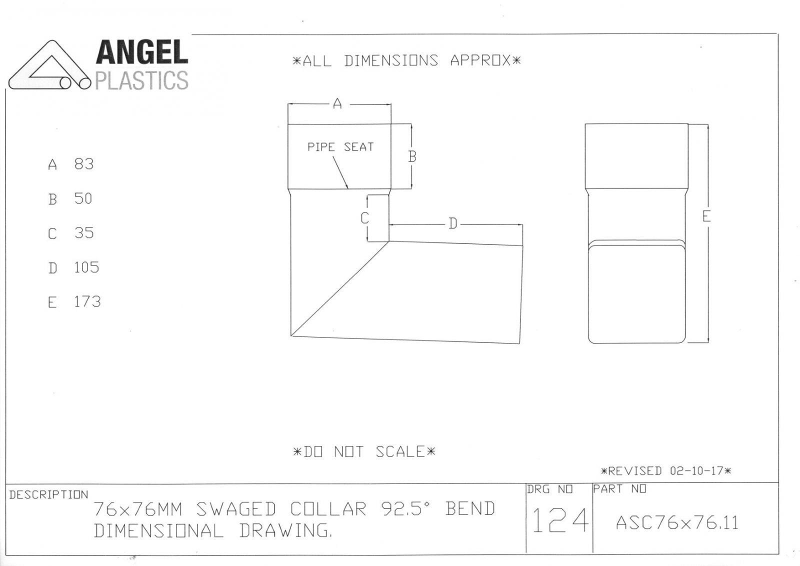 76mm Square Swaged Aluminium Downpipe