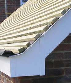 Eaves End And Bargeboard On Part Hipped Roof