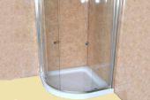 one metre wide shower internal cladding