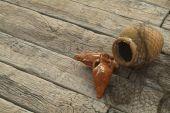 weathered grain millboard decking