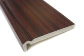 mahogany upvc fascia boards in ogee