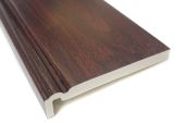 rosewood upvc woodgrain fascia boards