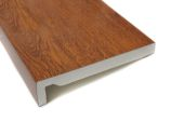 golden oak upvc fascia board