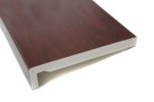 rosewood woodgrain upvc fascia