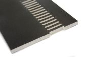 black upvc vented soffit board