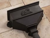 cast iron replica rainwater hopper head