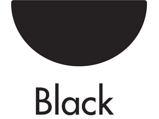 Black Half Round Floplast