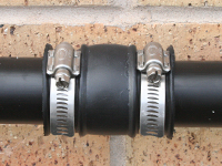 plumbers rubber coupling joiners