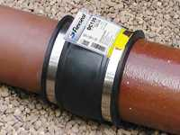 flexible flexicon rubber adaptor couplings