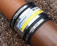flexible sewer drain couplers