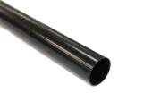 black floplast round rainwater downpipes