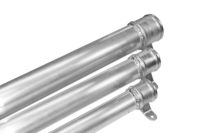 Round aluminium rainwater pipes