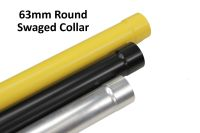 63mm round powder coated RAL aluminium pipe