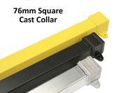76mm square powder coated RAL aluminium rainwater pipe