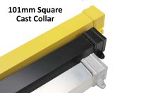 101mm square powder coated RAL aluminium rainwater pipe