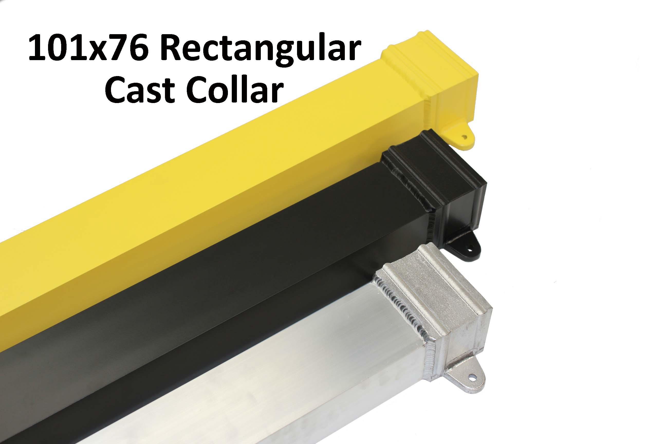 4x3 rectangular powder coated aluminium rainwater pipe