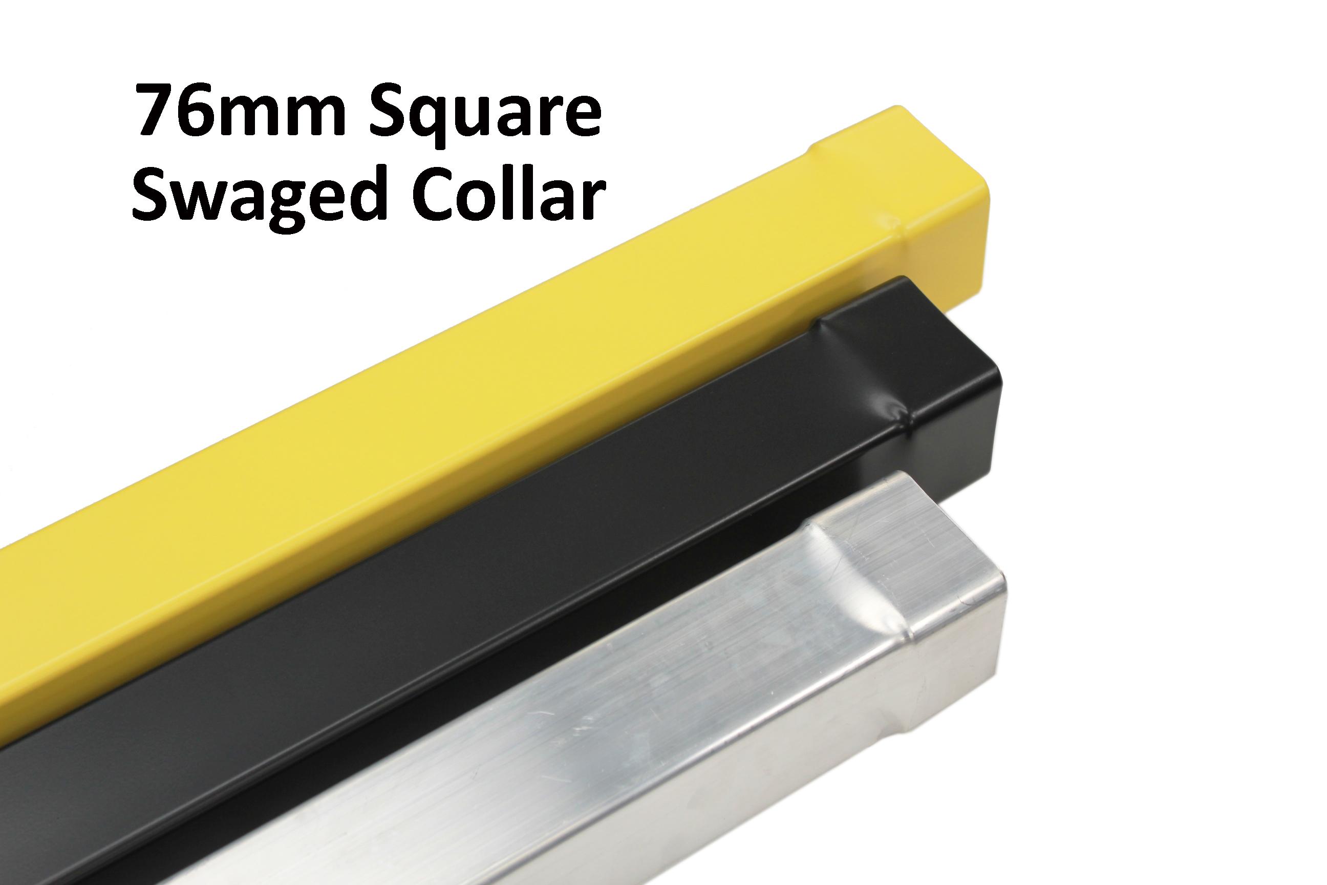 76mm swaged powder coated square aluminium rainwater pipe