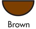 Brown Half Round Swish