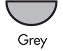 Grey Half Round Gutters