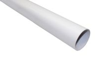 white 68mm round floplast pipe