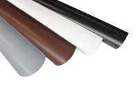 half round polypipe gutters guttering rainwater 112mm