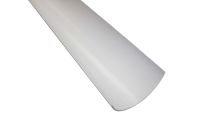 white half round polypipe gutters