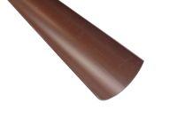 brown half round rainwater guttering