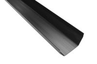 black upvc square gutters