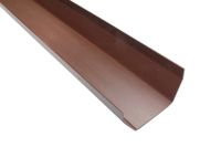 brown upvc square gutters