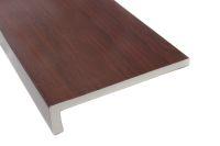 rosewood woodgrain upvc fascia boards