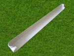 500mm Bullnose External Fascia Corner (white)