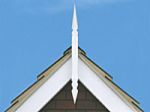 890mm Flat Back GRP Norwich Roof Spire (white)