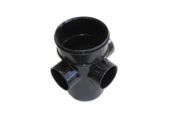 Single Socket 3 Way Bossed Pipe
