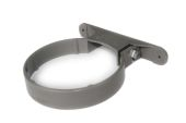 Plastic Pipe Clip (solvent grey)