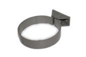 82mm Centre Fix Pipe Clip (solvent grey)