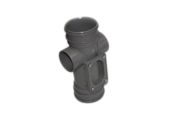 82mm Double Socket Access Pipe (solvent grey)