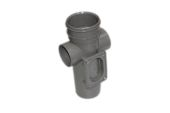 82mm Single Socket Access PIpe (solvent grey)