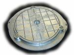 Circular Screw Down Aluminium Sealed Cover / Frame