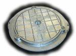 Circular Screw Down Aluminium Sealed Cover / Frame