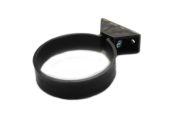 82mm Centre Fix Pipe Clip (black)