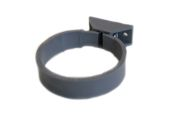 82mm Centre Fix Pipe Clip (grey)