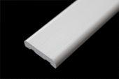 25mm x 6mm D Section (white woodgrain)