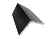 100mm x 80mm Hollow Angle (black woodgrain)