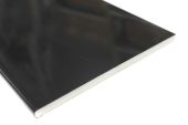 Pack of 2 x 200mm Flat Soffits (black gloss)