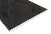 Pack of 2 x 200mm Flat Soffits (black gloss)