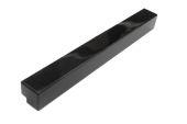 Pack of 2 x 500mm External Fascia Corners (black gloss)