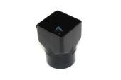 Square to Round Adaptor Sov (black)