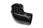 Black 68mm Round 112 Deg Bend (floplast)