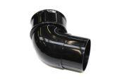 Black 68mm Round 112 Deg Bend (floplast)