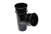 Black 68mm Round Pipe Branch (floplast)